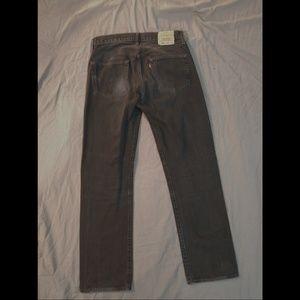 Mens 34 x 34 Levi's 501 Black Vintage Jeans